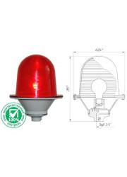 Светильник сигнальный Заградительный огонь ЗОМ-75Вт-АВ антивандальный